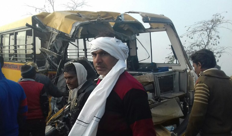 Accidente de bus en India
