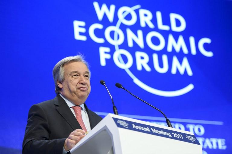 Antonio Guterres en el World Economy Forum