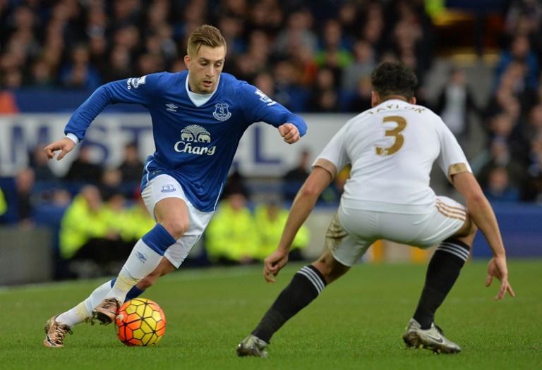 Gerard Deulofeu con el Everton