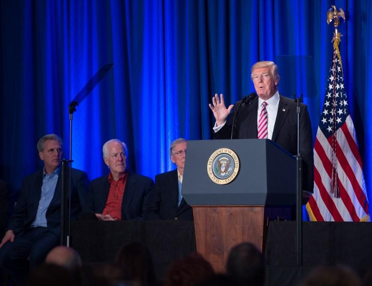 Conferencia de prensa de Donald Trump
