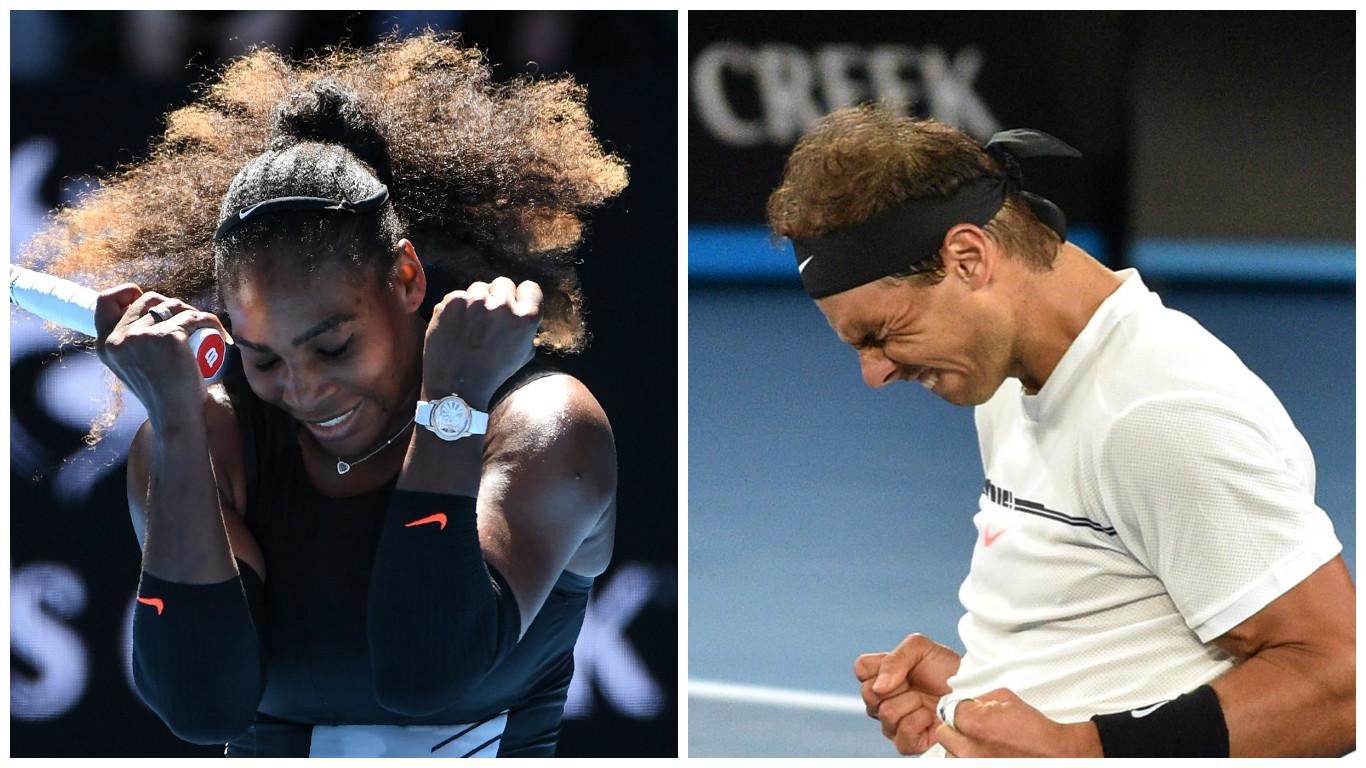 Serena Williams y Rafael Nadal