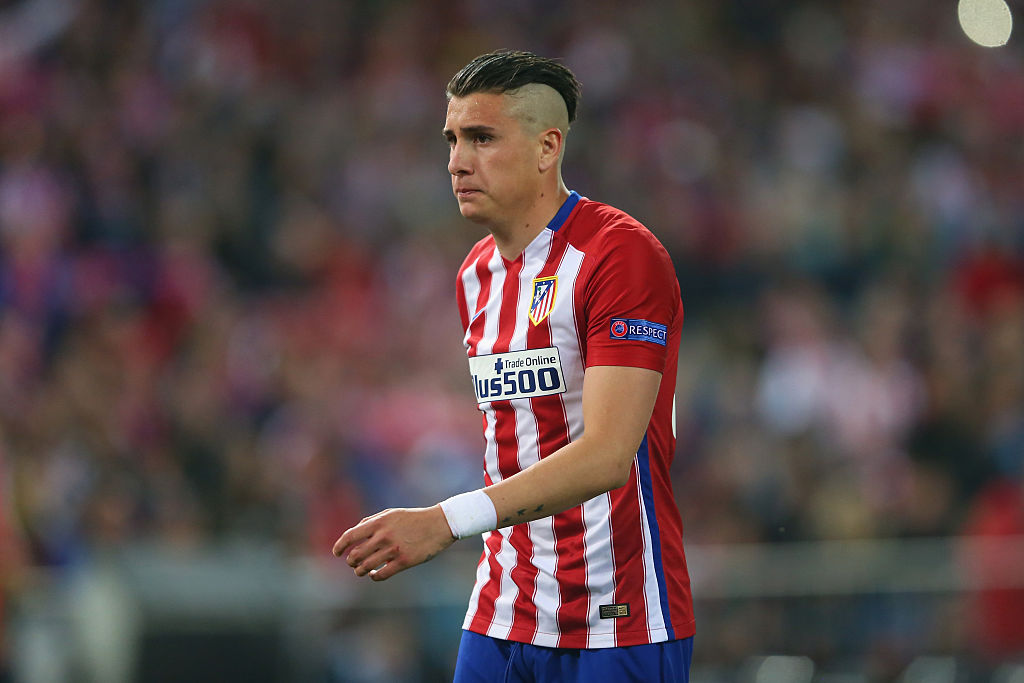 José María Giménez en un partido con el Atlético de Madrid