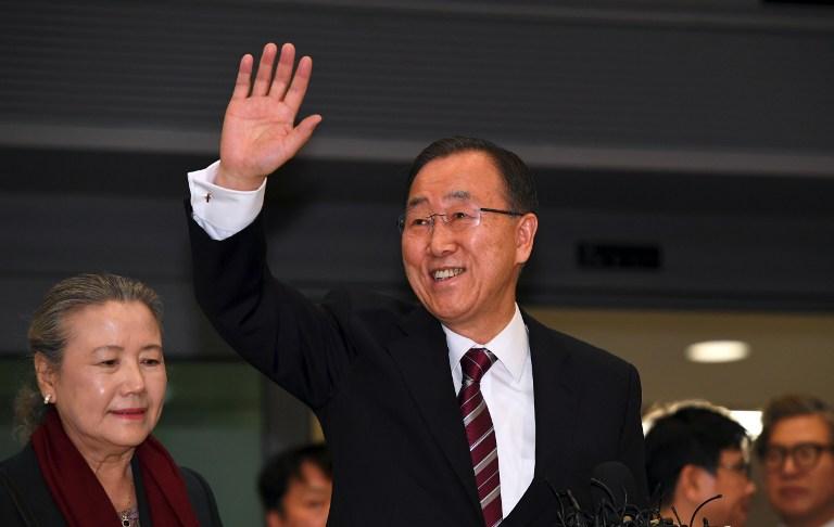Ban Ki-moon saludando