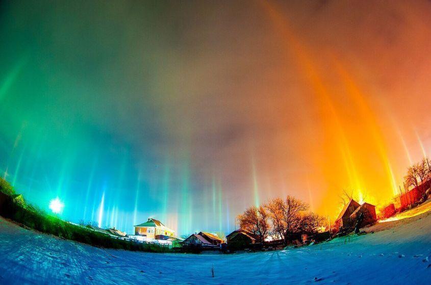 Fenómeno luminoso en Rusia