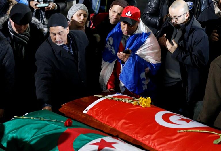 Funeral a víctimas de atentado en Quebec