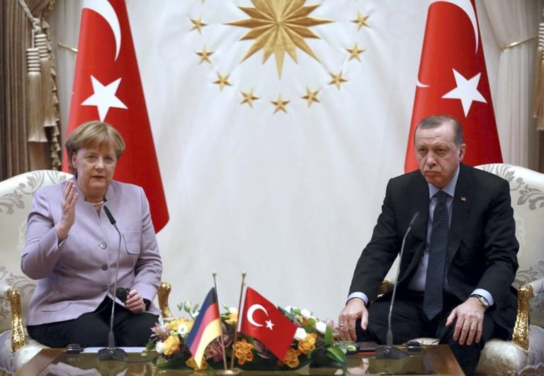 Angela Merkel y Recep Tayyip Erdogan