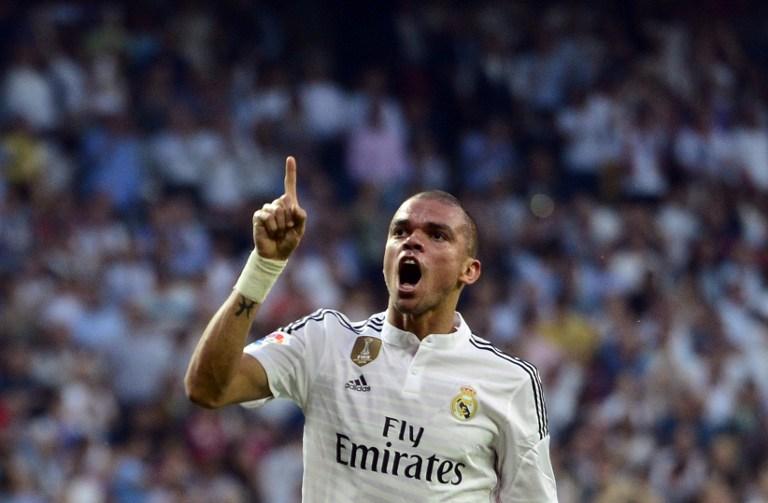 Pepe con el Real Madrid