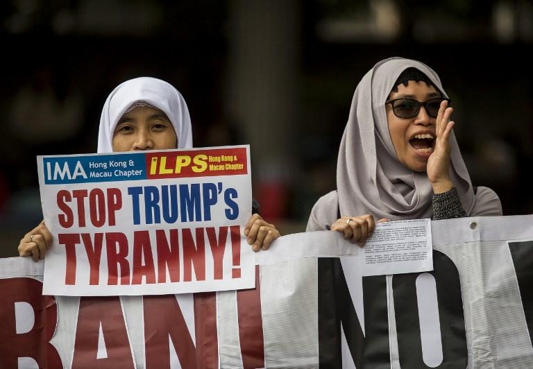 Protestas contra decreto de Donald Trump