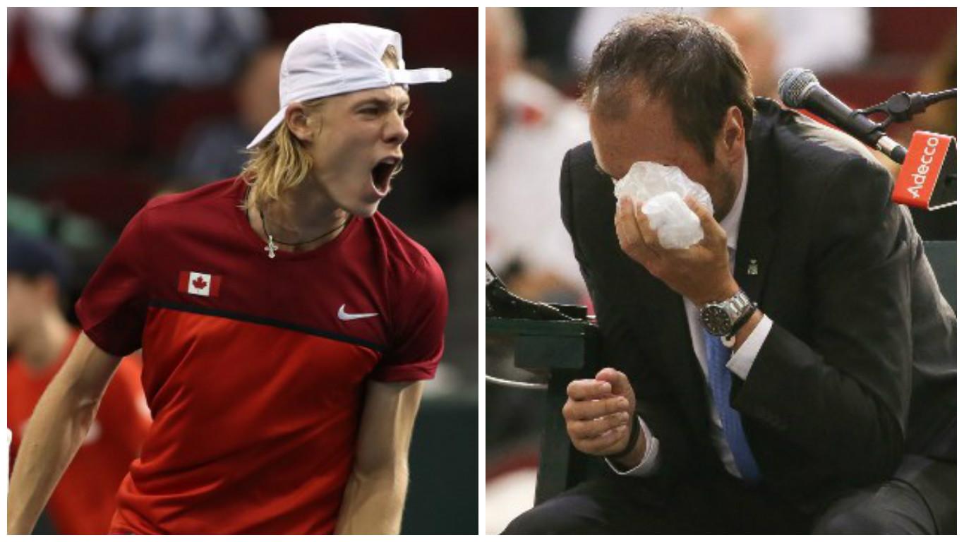 Denis Shapovalov golpeó a un juez con una pelota de tenis