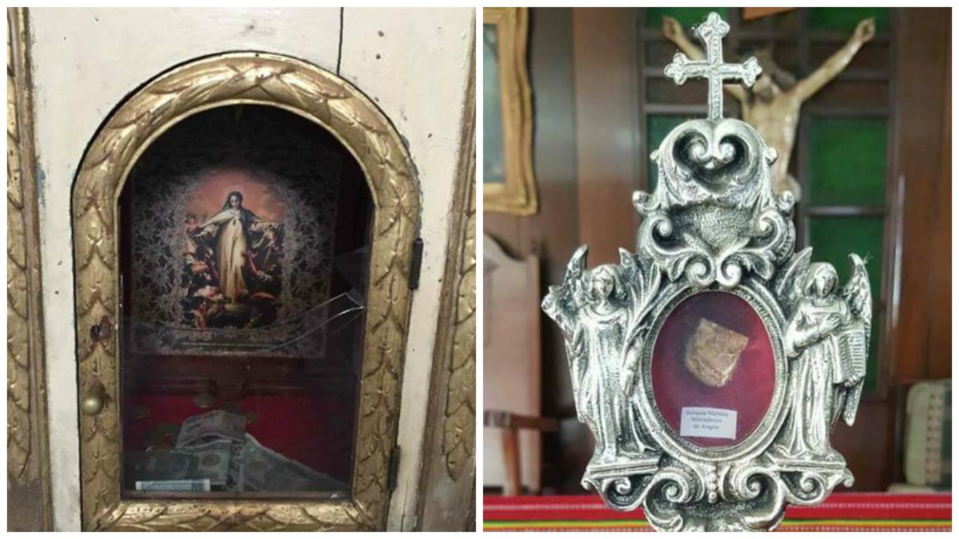 Reliquias robadas del templo de La Merced