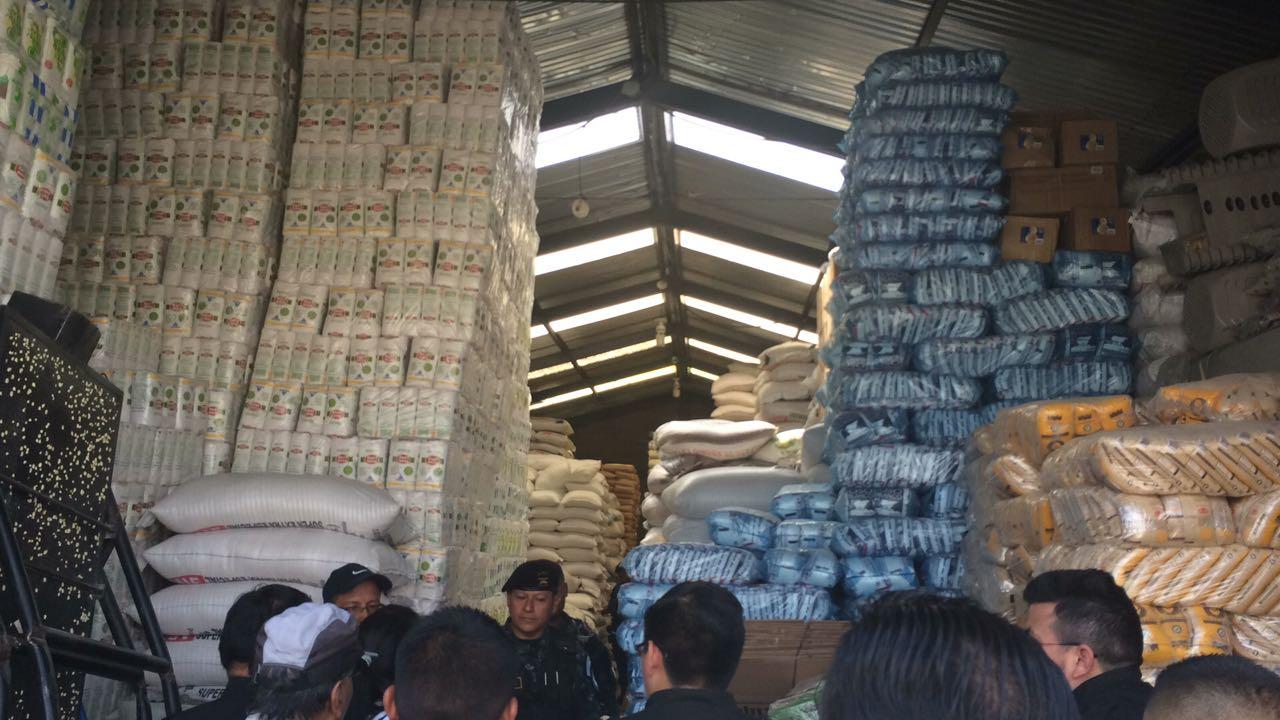 Bodegas allanadas en Quetzaltenango