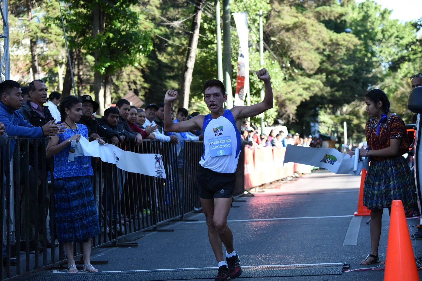 José Alejandro Barrondo, campeón centroamericano de marcha