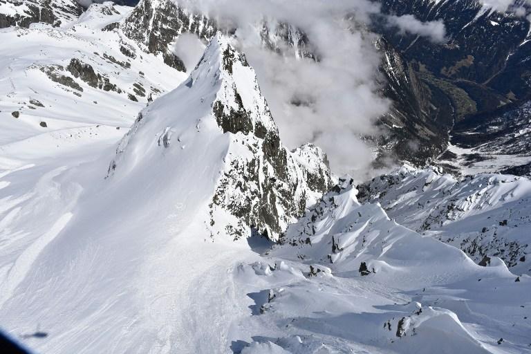 Avalancha en los Alpes