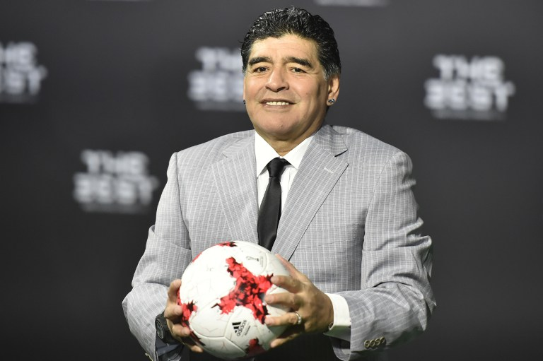 Diego Maradona en los premios The Best 2017