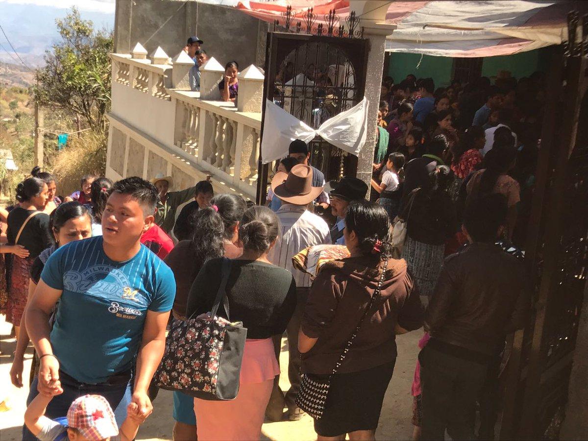 Velorio de los niños secuestrados en San Juan Sacatepéquez