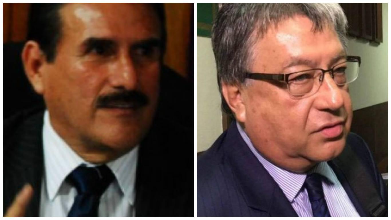 Los diputados Roberto Kestler, de la bancada Todos, y César Fajardo, de la Unidad Nacional de la Esperanza (UNE)
