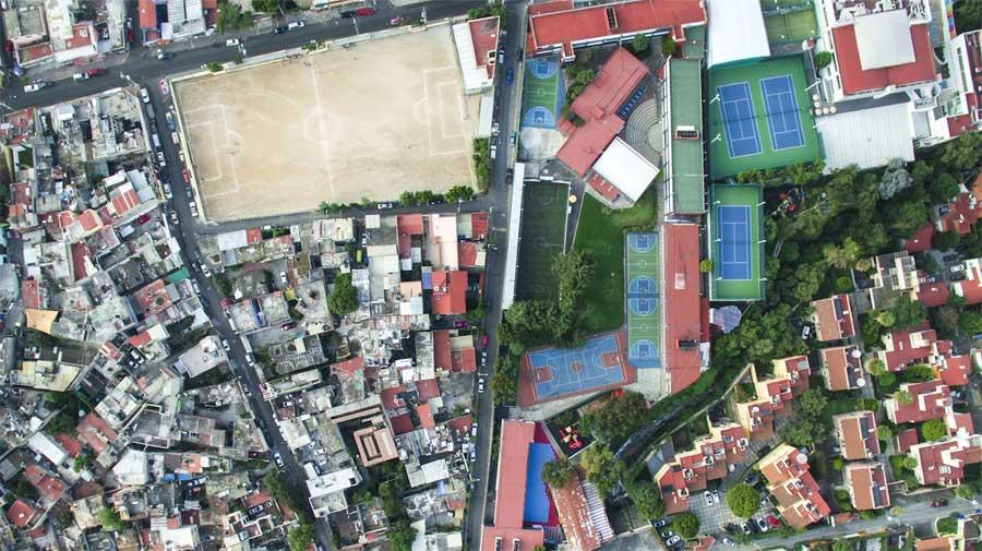 Imagen captada por dron