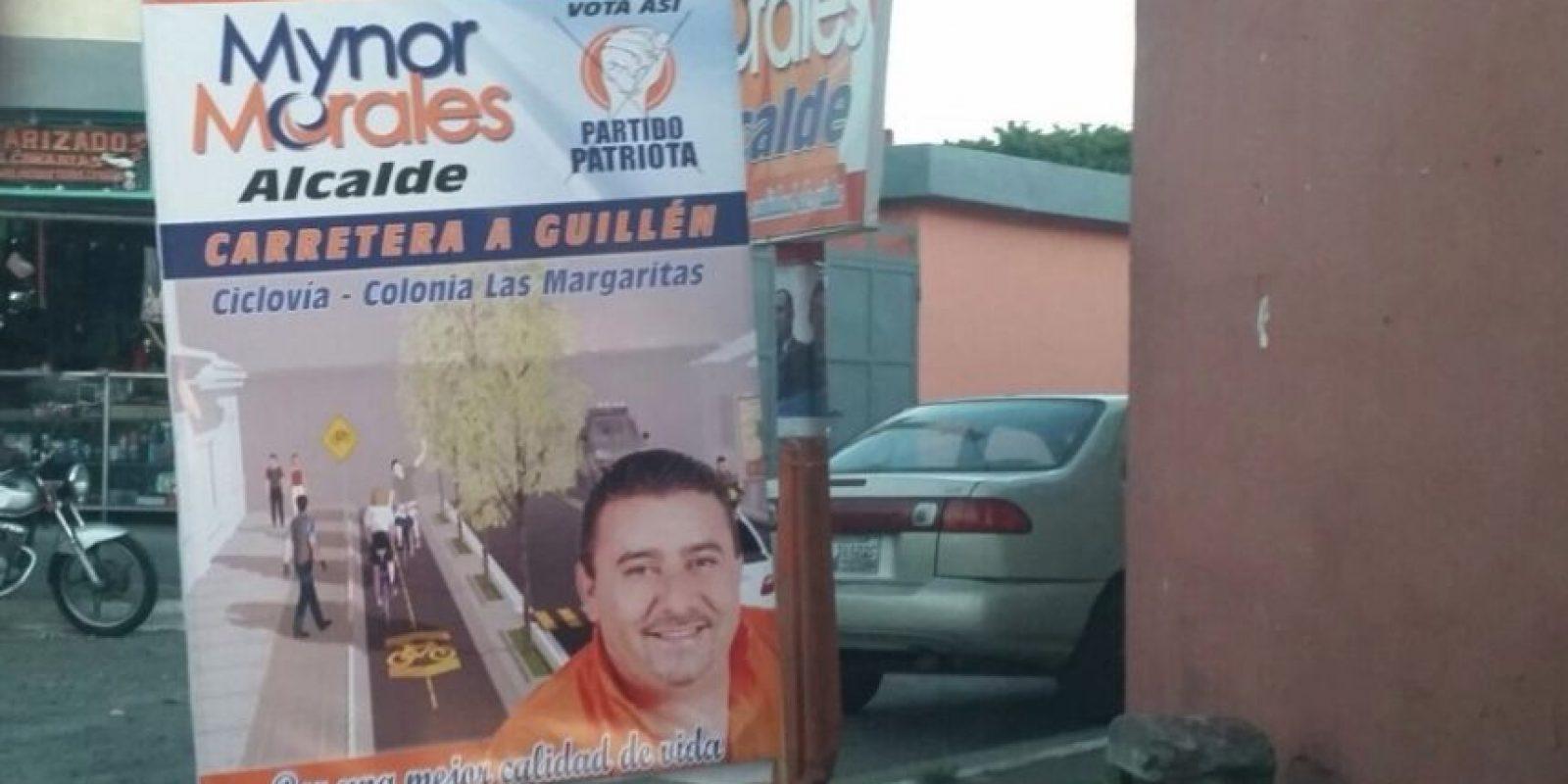 Excandidato Mynor Morales