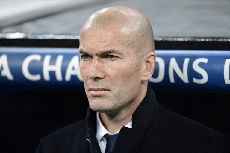 Zinedine Zidane en un partido de Champions League