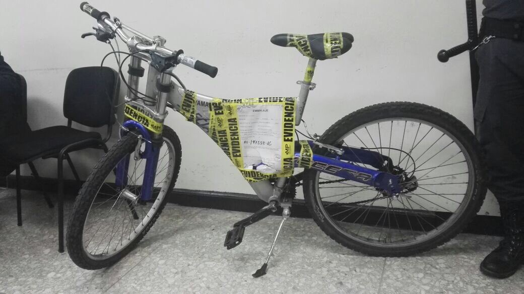 La bicicleta que fue robada.