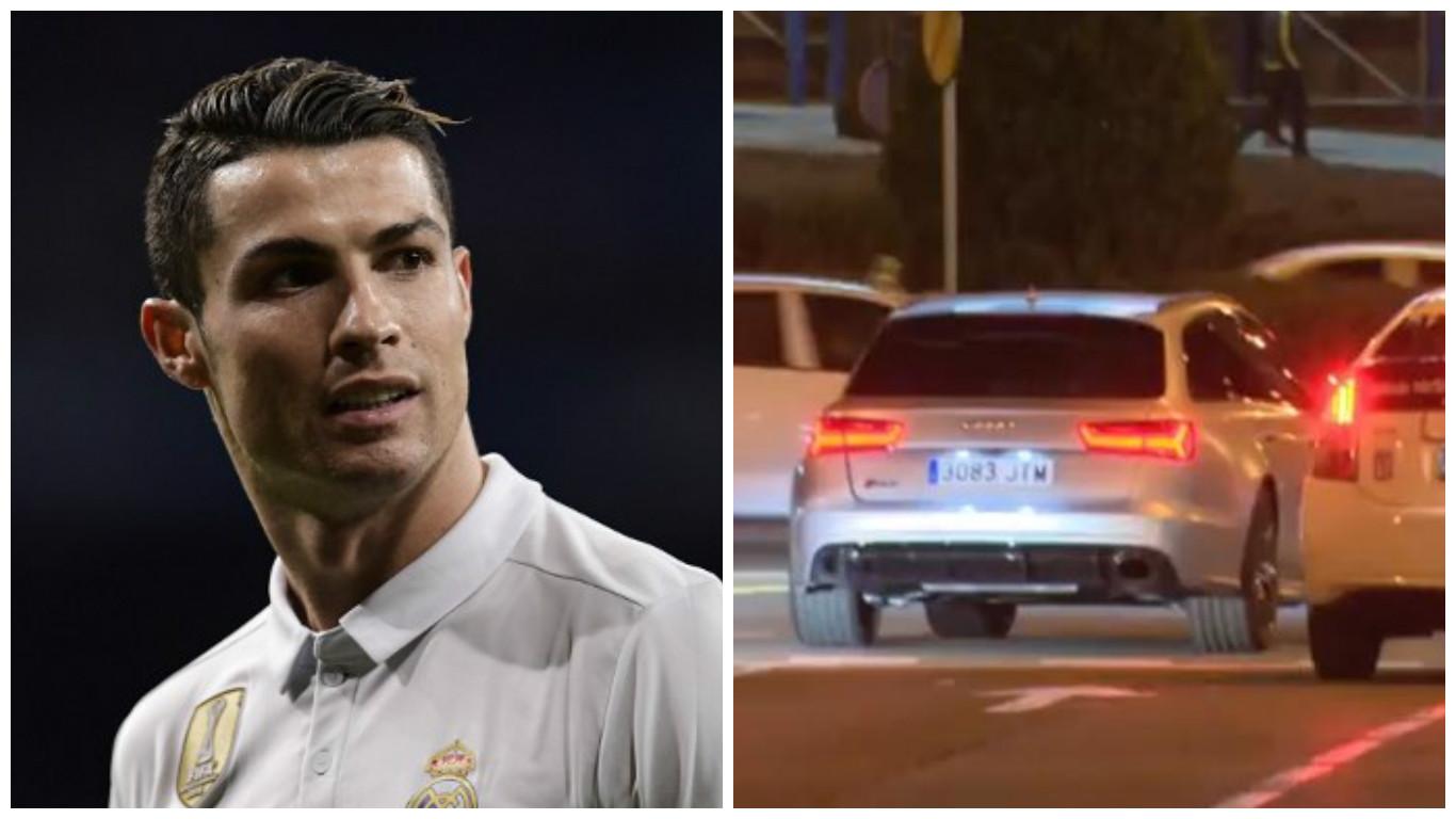 Cristiano Ronaldo se pasa un semáforo en rojo