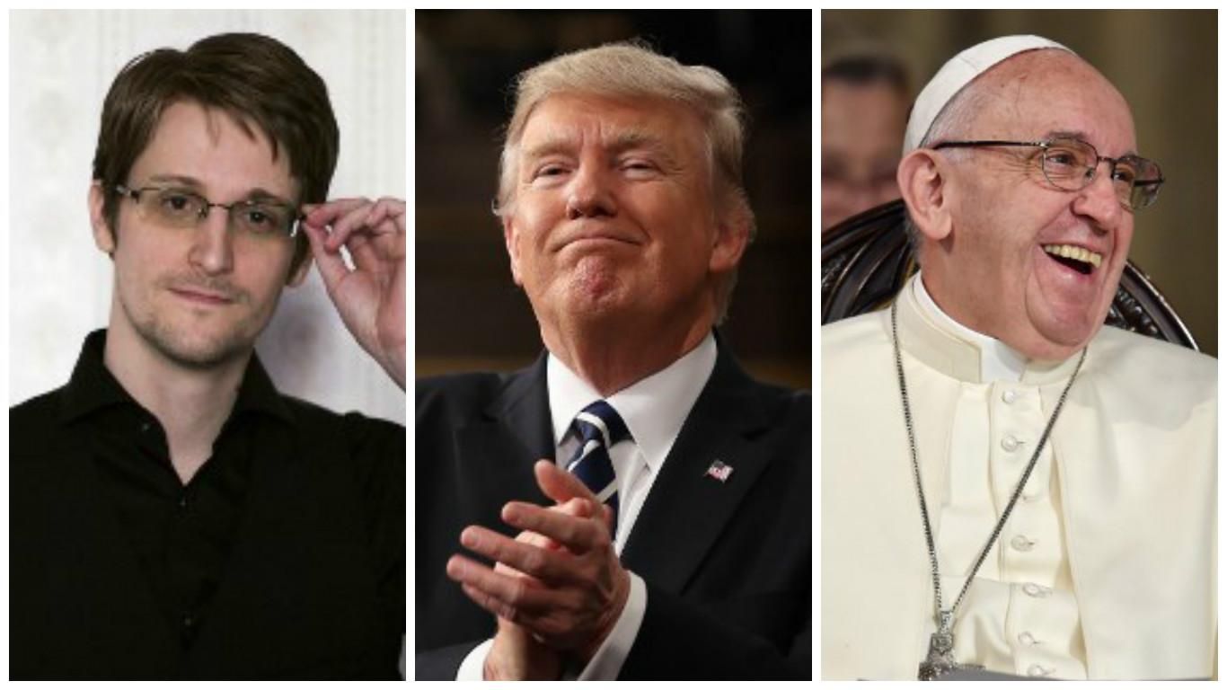 Edward Snowden, Donald Trump y el Papa Francisco