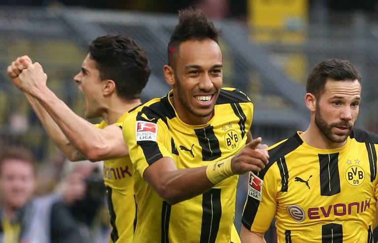 Gol de Aubameyang con el Dortmund