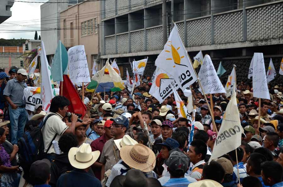 Manifestantes de Codeca