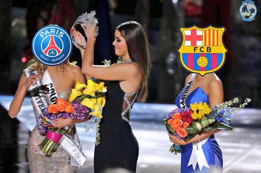 Memes del partido Barcelona vs. PSG