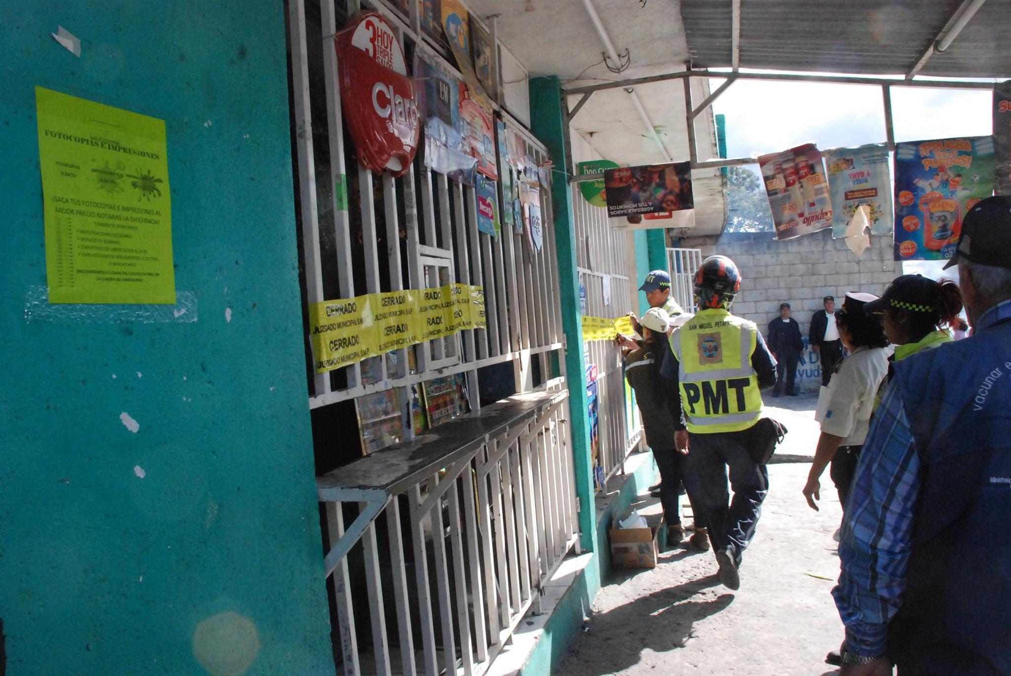 Cierre de tiendas en San Miguel Petapa