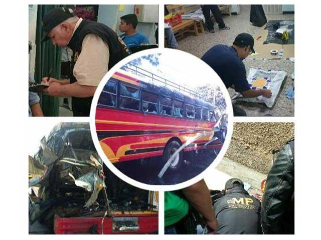 Atentado en bus San José Pinula