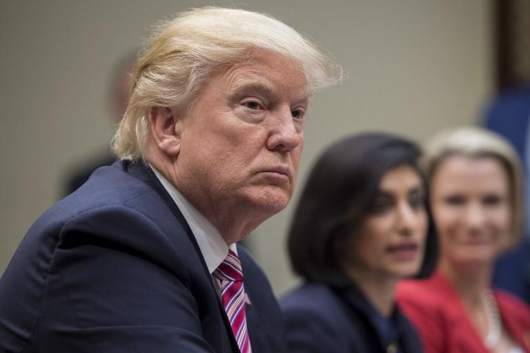 Donald Trump en una reunión