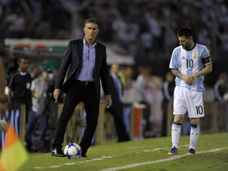 Edgardo Bauza y Lionel Messi
