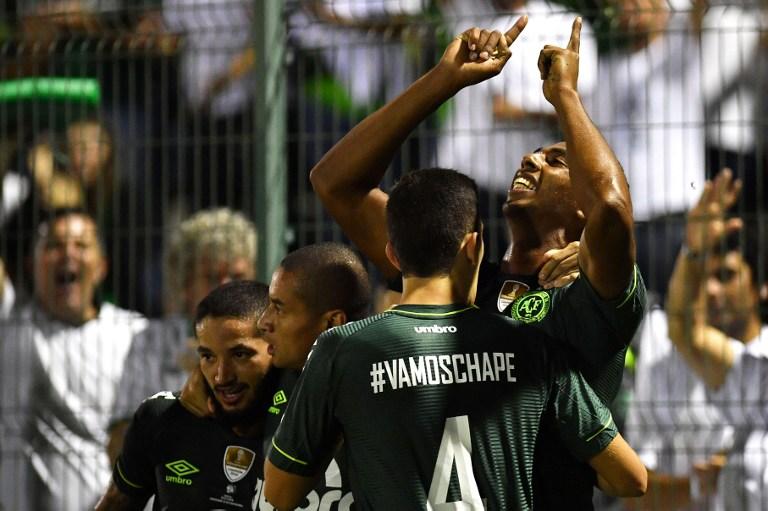 Gol de Chapecoense en la Recopa Sudamericana
