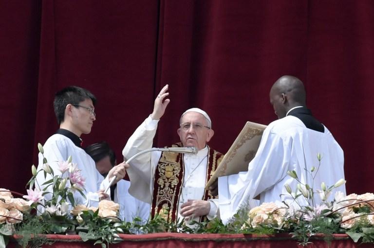 Papa Francisco en el Domingo de Pascua