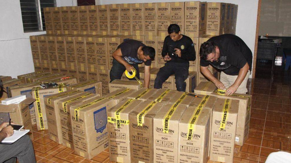 Casos de contrabando aduanero.