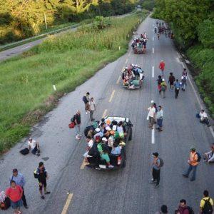 Migración de ciudadanos centroamericanos hacia Estados Unidos.