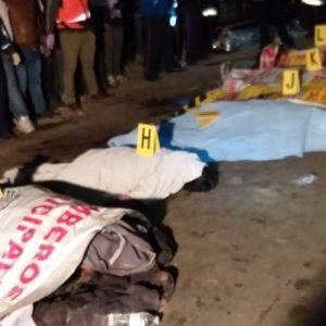 Conductor de camión arrolla a 18 personas en Nahualá, en Sololá.