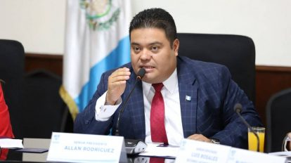 Allan Rodríguez, presidente del Congreso de la República.