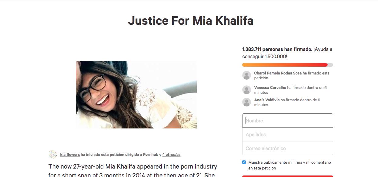 Mia Khalifa campaña