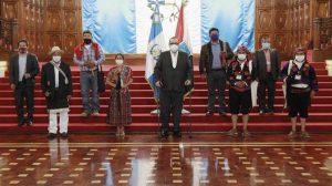 Autoridades indígenas se reúnen con Giammattei