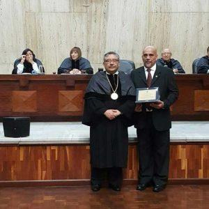 Juez Carlos Aguilar junto a magistrado Pineda Barales