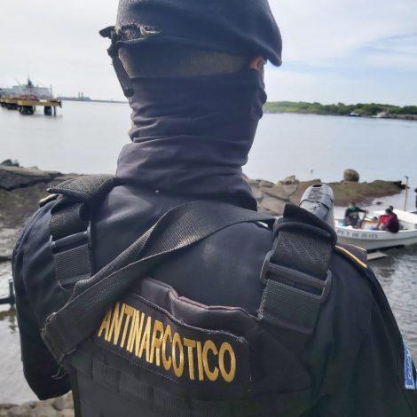 Localizan cocaína en embarcación interceptada en el Pacífico