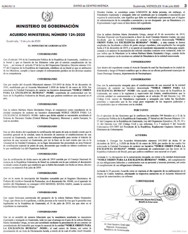 Acuerdo ministerial 124-2020