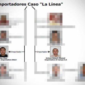 Importadores sindicados en el caso La Línea