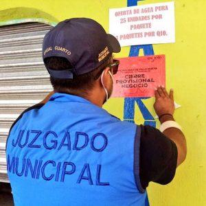 Cierran negocios de expendio de licor en Villa Nueva