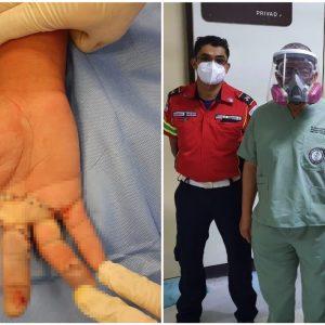 Médicos del Hospital General San Juan de Dios reconstruyen mano de joven carnicero