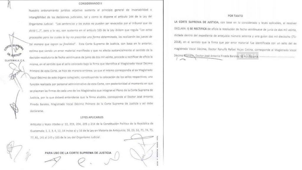 Resolución de CSJ