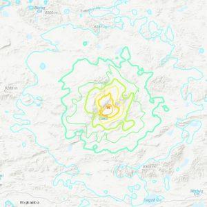 Temblor en el Tibet, región autónoma de China