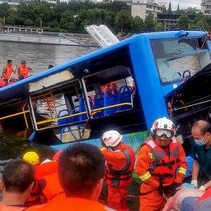 Accidente de bus en China